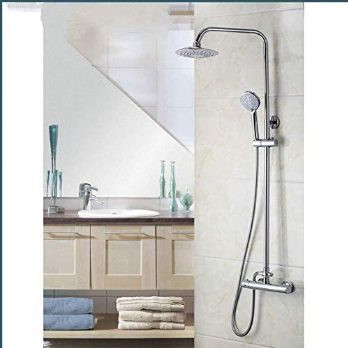 WFAANW Conjuntos de Cabezal de Ducha de baño Baño termostático Mezclador de 8 Pulgadas Cuadrado de la Mano