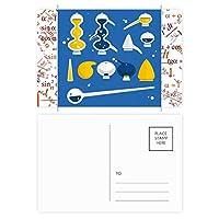 スポイトのゴムのドロッパーの化学 公式ポストカードセットサンクスカード郵送側20個