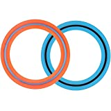 ouondad Frisbee Flying Disc Ring Toys for Kids Adult 11'' Flying Ring - Best Outdoor Active Toy Gift for Grils Boys Family (Orange,Blue)