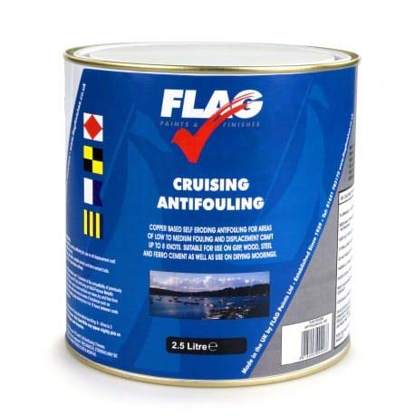 FLAG Cruising Antifouling Paint Steel White 2.5 Ltr