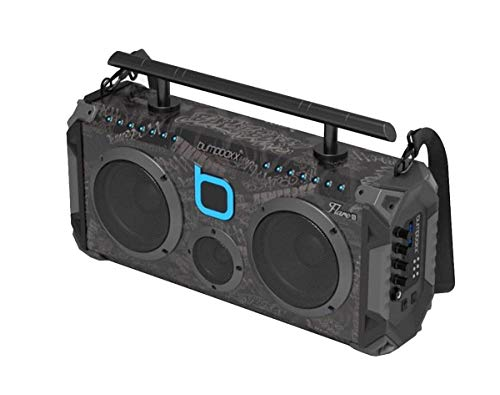 Bumpboxx Bluetooth Boombox Flare6 Black Graffiti BBG   Retro Boombox with Bluetooth Speaker   Rechargeable Bluetooth Speaker