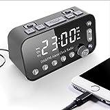 Reloj de Alarma Digital LED, Reloj Despertador con Radio Dual USB Dab/FM, Temporizador de suspensión, función de Snooze para Viajes, Dormitorio, Oficina Mejor Regalo del Festival