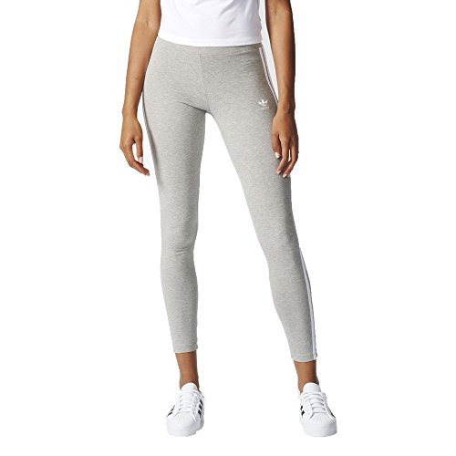 adidas Originals Women's 3-Stripes Leggings, Medium Grey Heather, Small