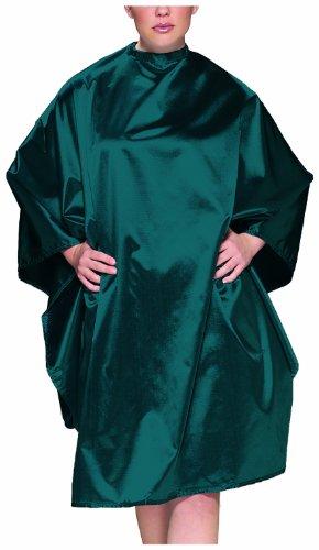 Olivia Garden Charm Waschund Frisierumhang mit Doppelhakenverschluss, smaragdgrün