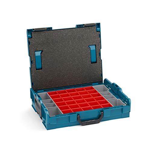 Bosch Sortimo Werkzeugkoffer-Set • L-Boxx 102 • bestückt mit Ordnungssystem Insetboxen-Set A3