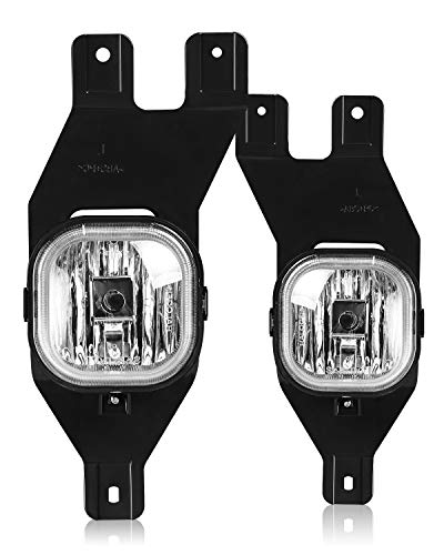 AUTOFREE Fog Lights for 01-04 FORD F250 350 450 550(SUPER DUTY) / 01-04 Excursion Fog Lamps Replacement 1 Pair with Bulbs- H10 12V 42W(Clear Lens)