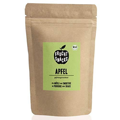 BIO Apfel gefriergetrocknet 25g I Getrocknete Apfelscheiben bio ohne Zucker I 100% Frucht, voller Geschmack