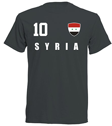 aprom - Syrien Kinder T-Shirt Trikot ALL-10 SC - WM 2018 Fußball (116)