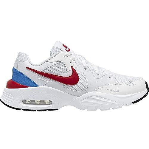 Nike Air Max Fusion, - Zapatillas de running para hombre, 20 UK, Multicolor (White Gym Red Blue 100), 47 EU