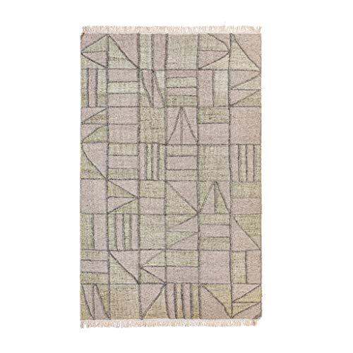 ZJX-F Jute Teppiche handgewebte Teppiche Hanf Wolle Geometrischer Gastfamilie Wohnzimmer Schlafzimmer Homestay Tapisserie Teppich (Color : C, Size : 160x230cm)