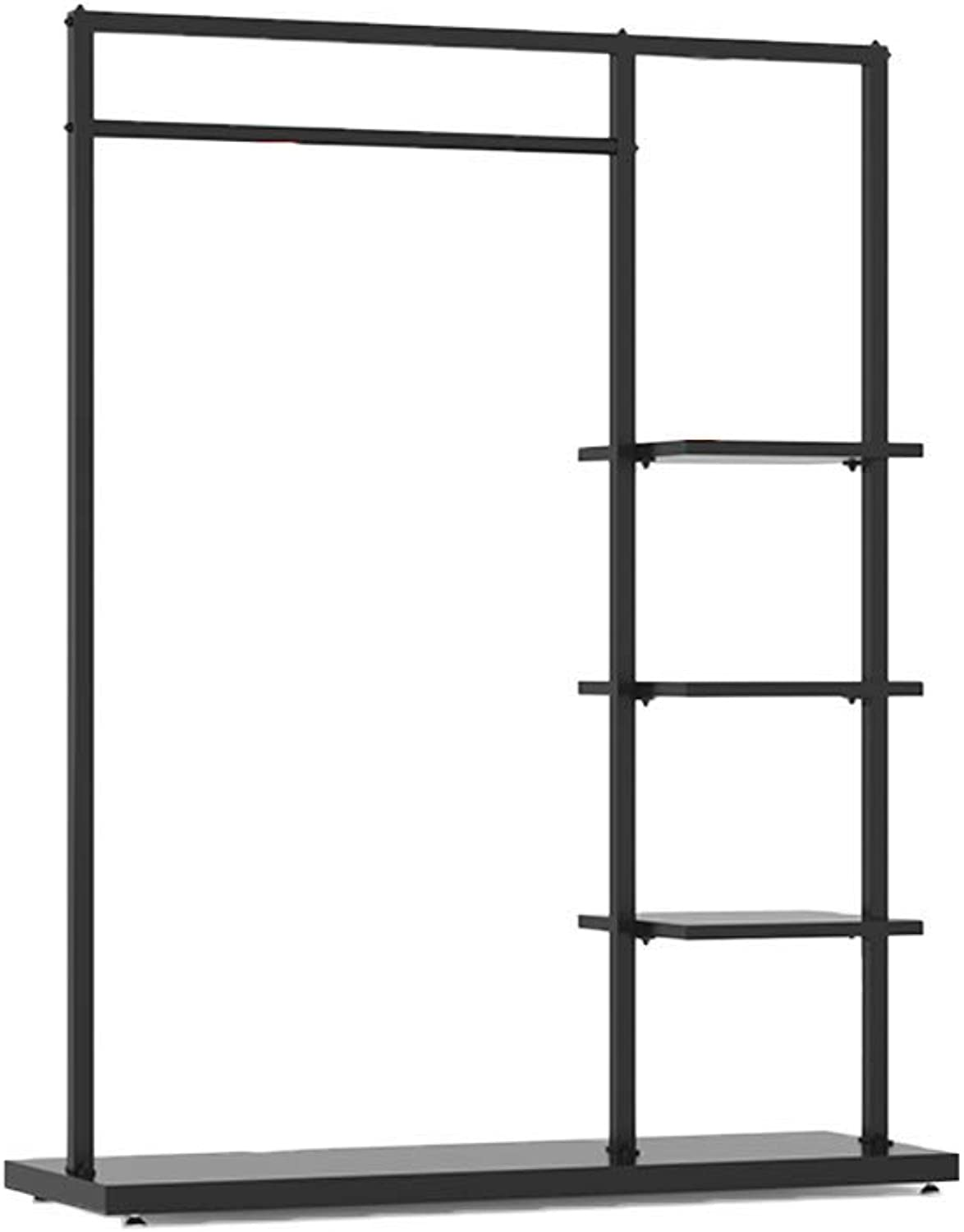 DYR Premium Entryway Coat Rack with Shelf, Support for Metal Coat Hooks shoes Holder, Resistant for Home use Hall Rustproof-B 120x40x155cm (47x16x61inch)