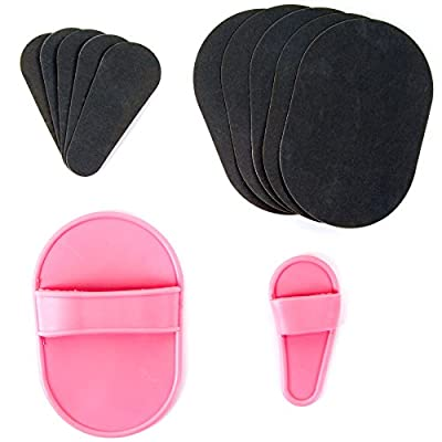 13Pc Exfoliating Hair Removal Pad Kit For Smooth Skin - Arms Legs Top Lip