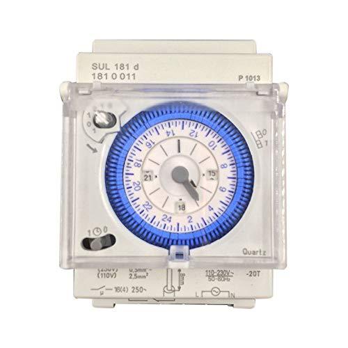 SODIAL Temporizzatore Meccanico Analogico 110V-220V 24 Ore Giornaliere Programmabili 15 Minuti Impostazione Relè Temporizzatore Sul181D Hot