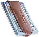 Strong Magnetic Money Clip Wallet – Slim Minimalist Wallet for Men – Genuine Leather Front Pocket Cash Holder