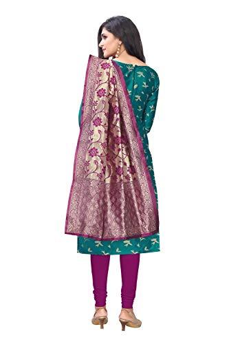 Being Banarasi women's jacquard unstiched dress material (purple)