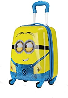 Minions Travel Luggage Trolley Bag For Kids on wheels Boarding Box