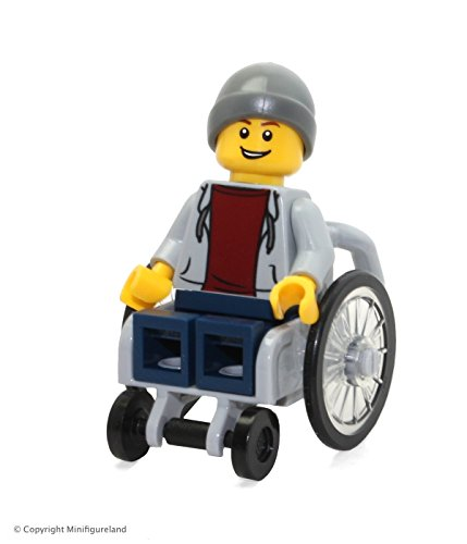 LEGO Town City Fun in the Park Minifigure - Disabled Handicapped Man in Wheelchair (60134) by LEGO