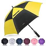 ZOMAKE Golf Umbrella 62 Inch, Large Windproof Umbrellas Automatic Open Oversize Rain Umbrella with Double Canopy for Men Women - Vented Stick Umbrellas