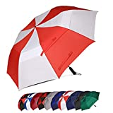 Eono by Amazon - 62 Inch Portable Golf Umbrella Large Windproof Double Canopy