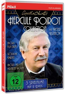 Agatha Christie: Hercule Poirot-Collection (Mord à la Carte +Tödliche Parties + Mord mit verteilten Rollen)