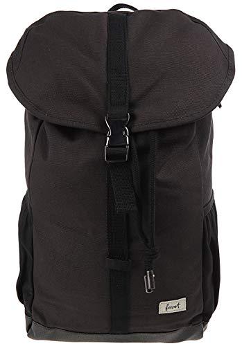 FORVERT Clark,Unisex,Daypack,Rucksack,Hauptfach,13 und 15 Zoll Laptopfach,22 Liter,Innen- und Seitentasche,verstärkter Boden,Black,one Size