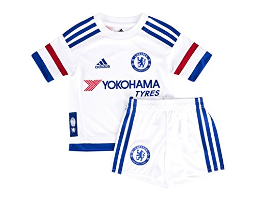 adidas - Fußball-Trainingsanzüge für Mädchen in Weiß/Blau/Rot, Größe 74