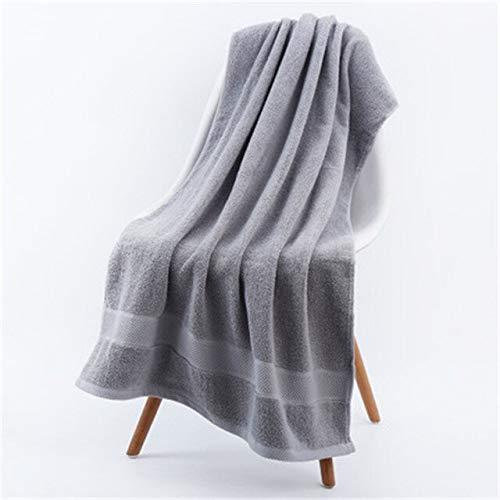 Heliansheng Toalla de Cara súper Absorbente Grande Toalla de baño sólida de algodón Grueso Toalla de Playa para Adultos - Gris-70x140cm