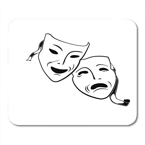Muismat Opera Black Drama Comedia en Tragdia Masker Theater Wit Oranje Rist symbool Muismat Muismat