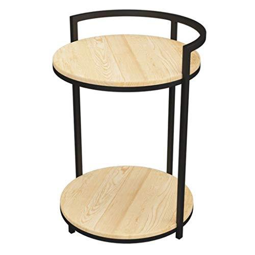 Huahua Furniture Beistelltisch, Beistelltisch Kaffee- / Tee- / Snack-Tisch mit Zeitungsständer für Couch Side Living Office Büro Empfangsraum Balkon