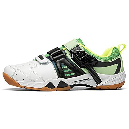 Rty Zapatos de bádminton de los hombres, Zapatos deportivos de interior de verano,Verde,38 EU