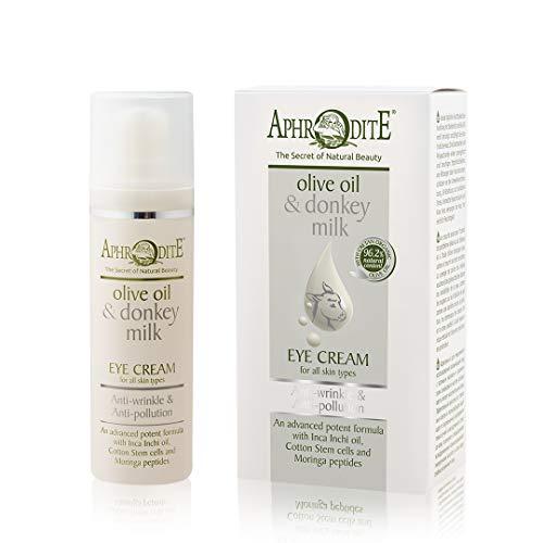 Aphrodite Anti-Falten & Anti-Pollution Augencreme. Mit Eselsmilch und Olivenöl angereicherte...