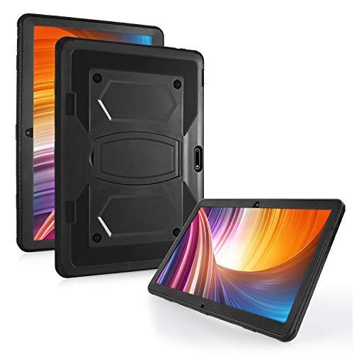 Mignova - Custodia rigida per Dragon Touch Max 10, per custodia Zonko 10, resistente agli urti e agli urti, ibrida (supporto integrato), per tablet Dragon Touch Max 10 Zonko 10 (nero)