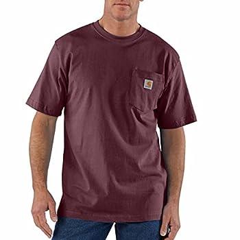 Carhartt Men s K87 Workwear Short Sleeve T-Shirt  Regular and Big & Tall Sizes  Port 3XL  Reg
