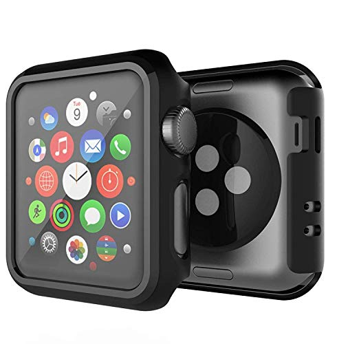 SPORTLINK Apple Watch Custodia, Rugged Armor Bumper per iWatch Apple Watch Series 3 / Series 2 42mm Cover Case (2 Pezzi - Nero)