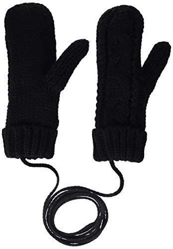 ESPRIT edc by Accessoires Damen 119CA1R002 Handschuhe, Schwarz (Black 001), One Size (Herstellergröße: 1SIZE)