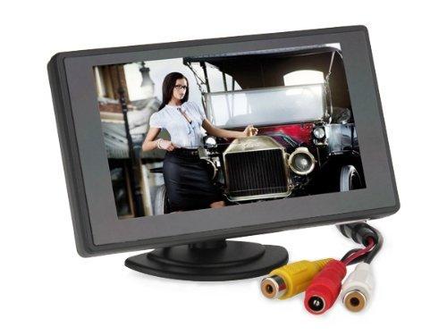 Bw® 10,9 cm TFT Couleur de Voiture Prise en Charge d'écran 480 x 272 Résolution + Moniteur de Voiture Rétroviseur Système, Mini Monitor pour Voiture/Automobile