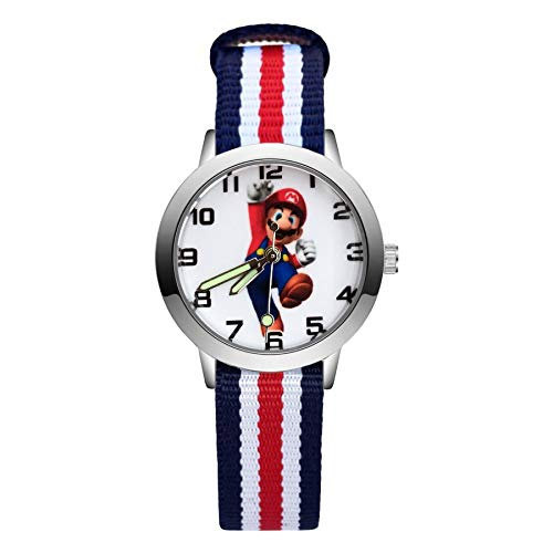 XINTENG Mario Bros horologe moda dibujos animados lindo estilo Mario relojes niños niños estudiantes niñas cuarzo nylon correa reloj reloj