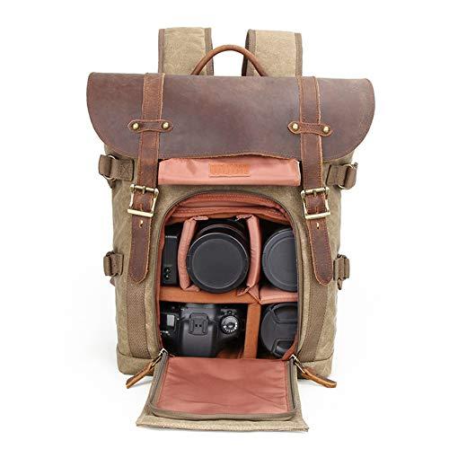 WANGXN Kamera Rucksack wasserdichte Anti Diebstahl Batik Leinwand Retro Mode Digitalkamera Tasche mit großer Kapazität (außer Kamera)