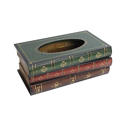XJF Crafted Classical Retro Holz Antik Buchbox Cover Rechteckigen Halter Spender Papier Cover Fall Serviette