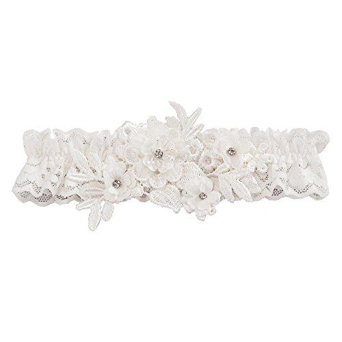 Ivy Lane Design Bridal Garter, One size fits most, Ivory