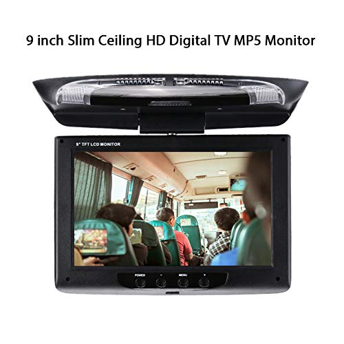 Hongfei Car DVD Monitor Durevole Car Monitor with 9 Pollici Ultra-Sottile Flip Down Monitor Per Montaggio Su Tetto Automobilistico