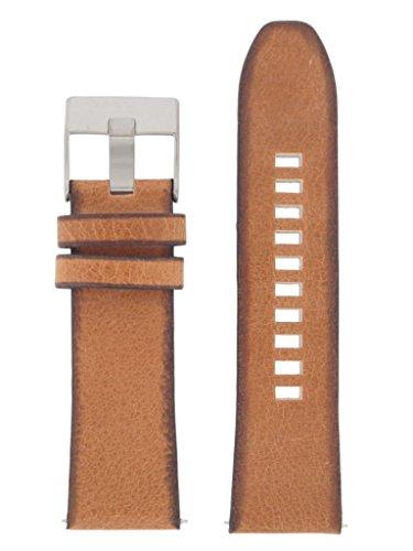 Diesel Uhrband Wechselarmband LB-DZ4343 Original Ersatzband DZ 4343 Uhrenarmband Leder 26 mm Braun