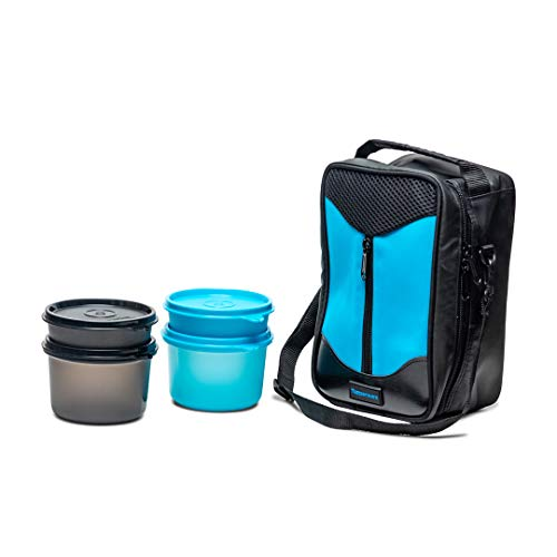 Tupperware New Executive Office Lunch Set, 1220 Ml Plastic Blue