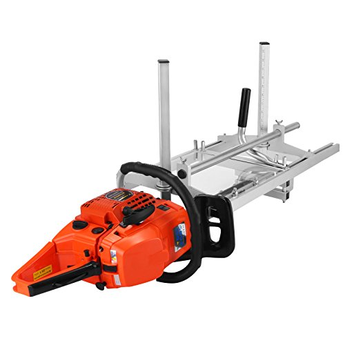 Popsport Chainsaw Mill Planking Milling 14' to 36' Guide Bar Wood Lumber Cutting Portable Sawmill Aluminum Steel Chainsaw Mill for Builders and Woodworkers (14' to 36')