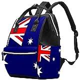 WJJSXKA Mochilas Bolsa de pañales Laptop Notebook Mochila de viaje Senderismo Mochila para mujeres Hombres - Vector aislado de la bandera de Australia