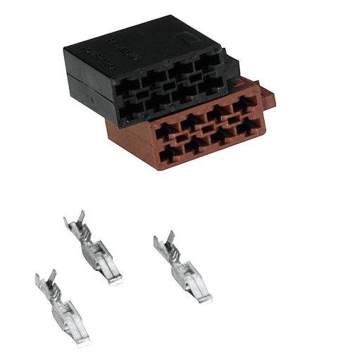 Hama Kit d'installation (pour connecteurs mâles ISO) Noir/Marron