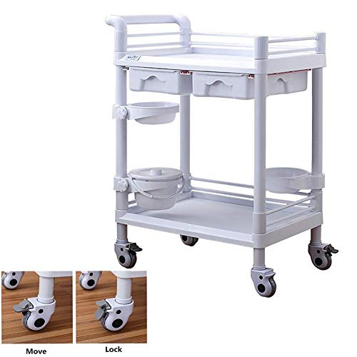 Great Price! DJP Recycling Vehicles,Salon Cart Abs Beauty with 2 Drawers, Medical Instrument Rolling...