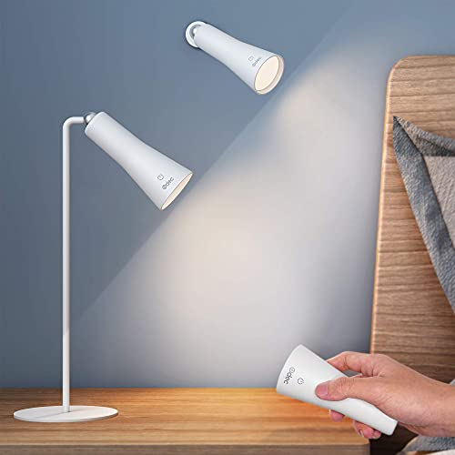 Lámpara Escritorio LED, Flexo de Escritorio Cuidado Ocular, Puerto USB, 3 Niveles de Brillo Panel Táctil Lámpara de Mesa luz para leer Blanco linterna led recargable inalámbrica hogar oficina