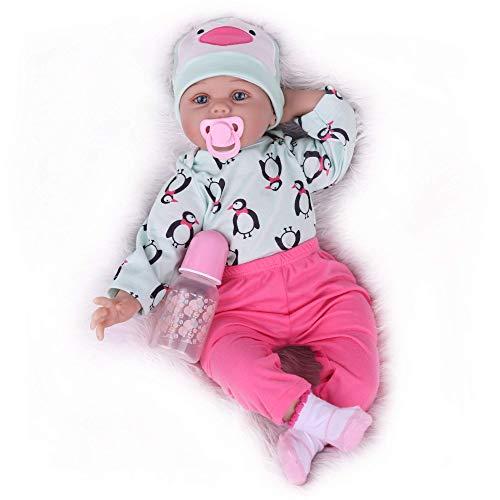 Kaydora Reborn Baby Doll Girl, 22 Inch Realistic Newborn Baby Doll, Handmade Vinyl Baby Reborn Toddler Dolls for Kids