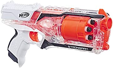Strongarm Nerf N-Strike Elite Toy Blaster with Rotating Barrel, Slam Fire, and 6 Official Nerf Elite Darts for Kids, Teens, and Adults (Amazon Exclusive)